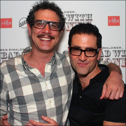 with Adam Feldman photo by Michael Portantiere for Playbill
