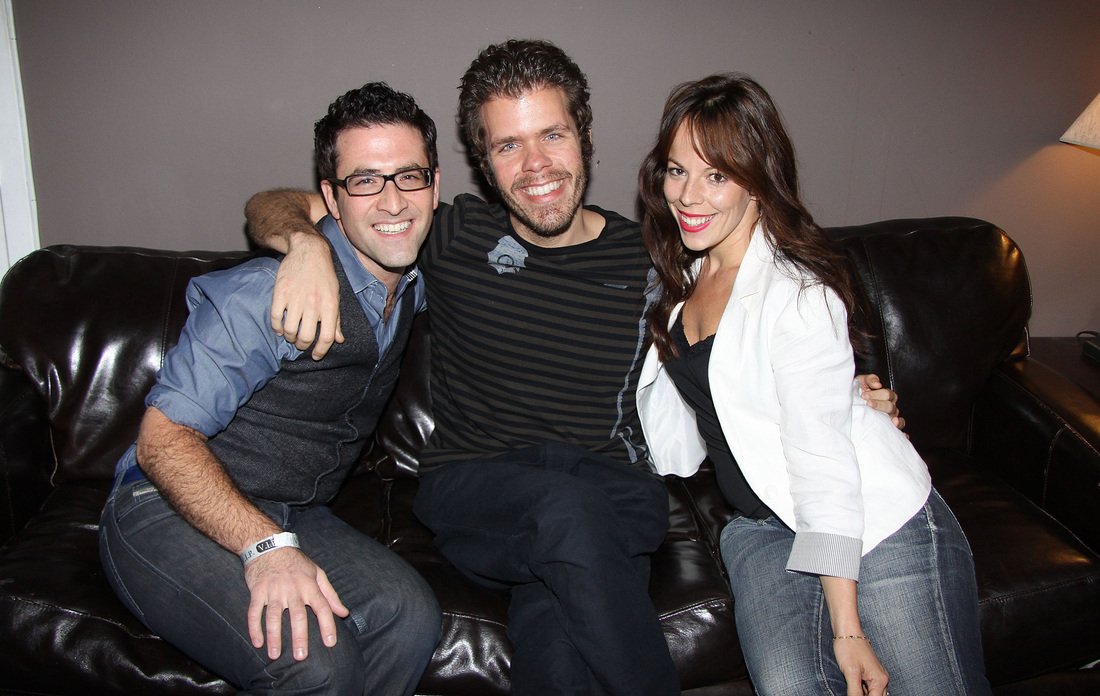 Perez Hilton and Leslie Kritzer visit Patti Issues photo by Joseph Marzullo for Playbill
