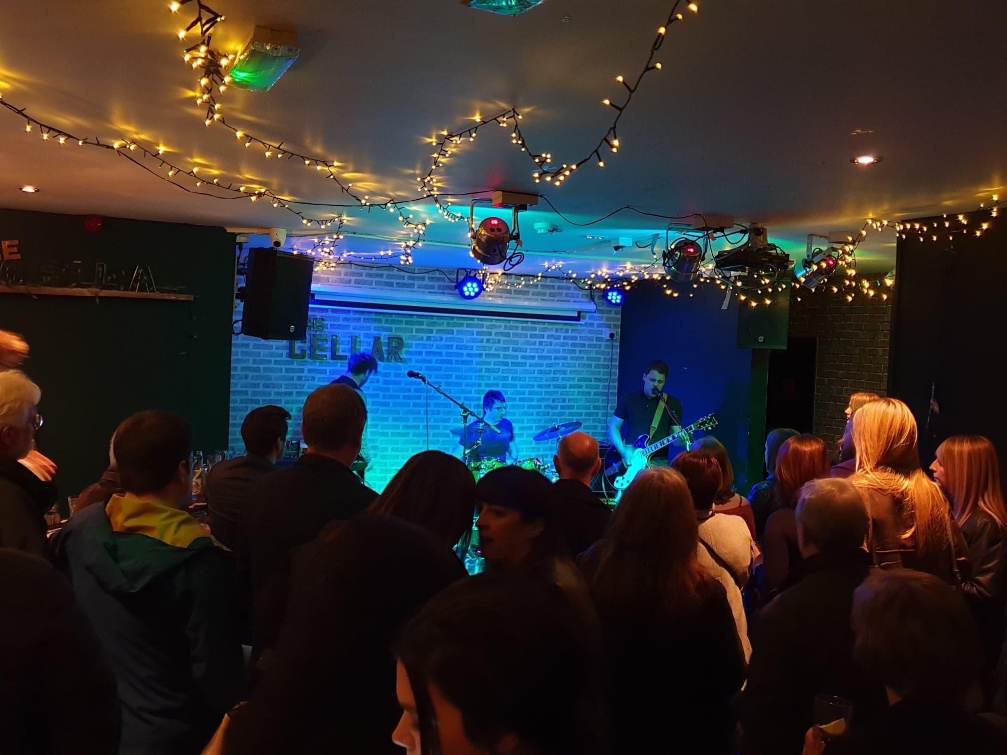Audiokicks performing at The Cellar