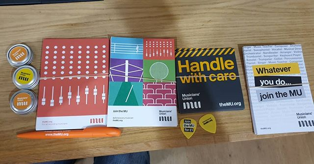 Some Musicians Union goodies to be picked up on your next visit to D-Range #drange #drangestudio #freegoodies #musiciansunion #Aberdeen #Scotland
