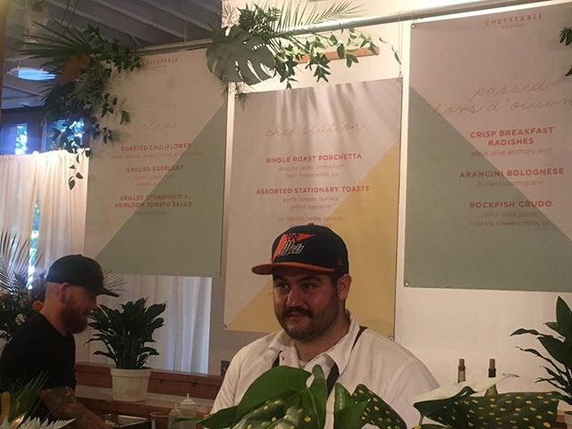 New Chef Doug Miriello at ChefStable's new groovy digs -#ecotrustevents, #bridgewoodevents, #iloveevents