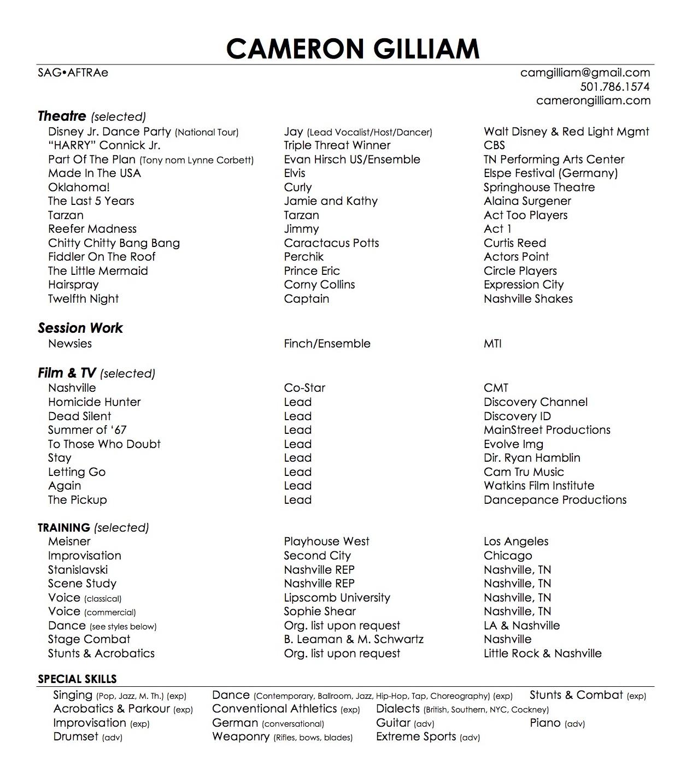 Theatre Resume - Cameron Gilliam.jpg