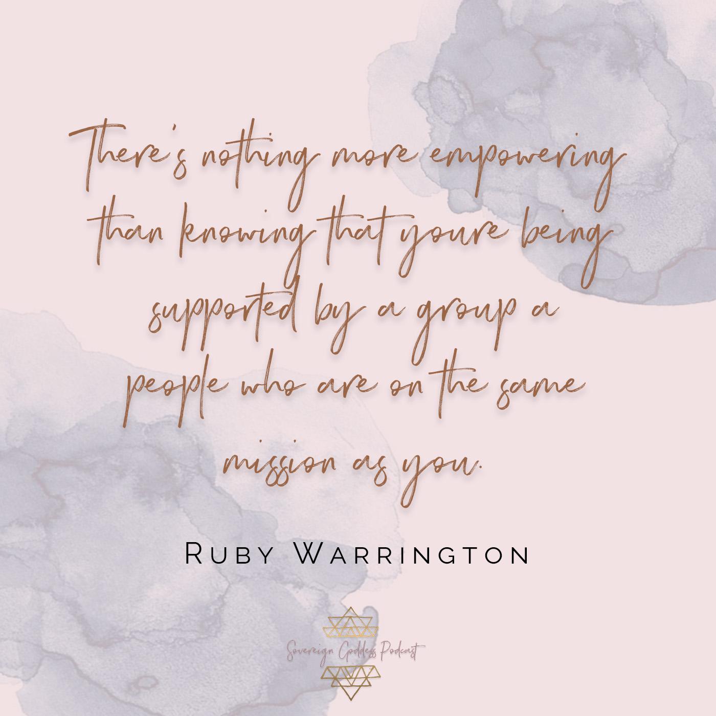 ruby warrington on the Sovereign Goddess Podcast
