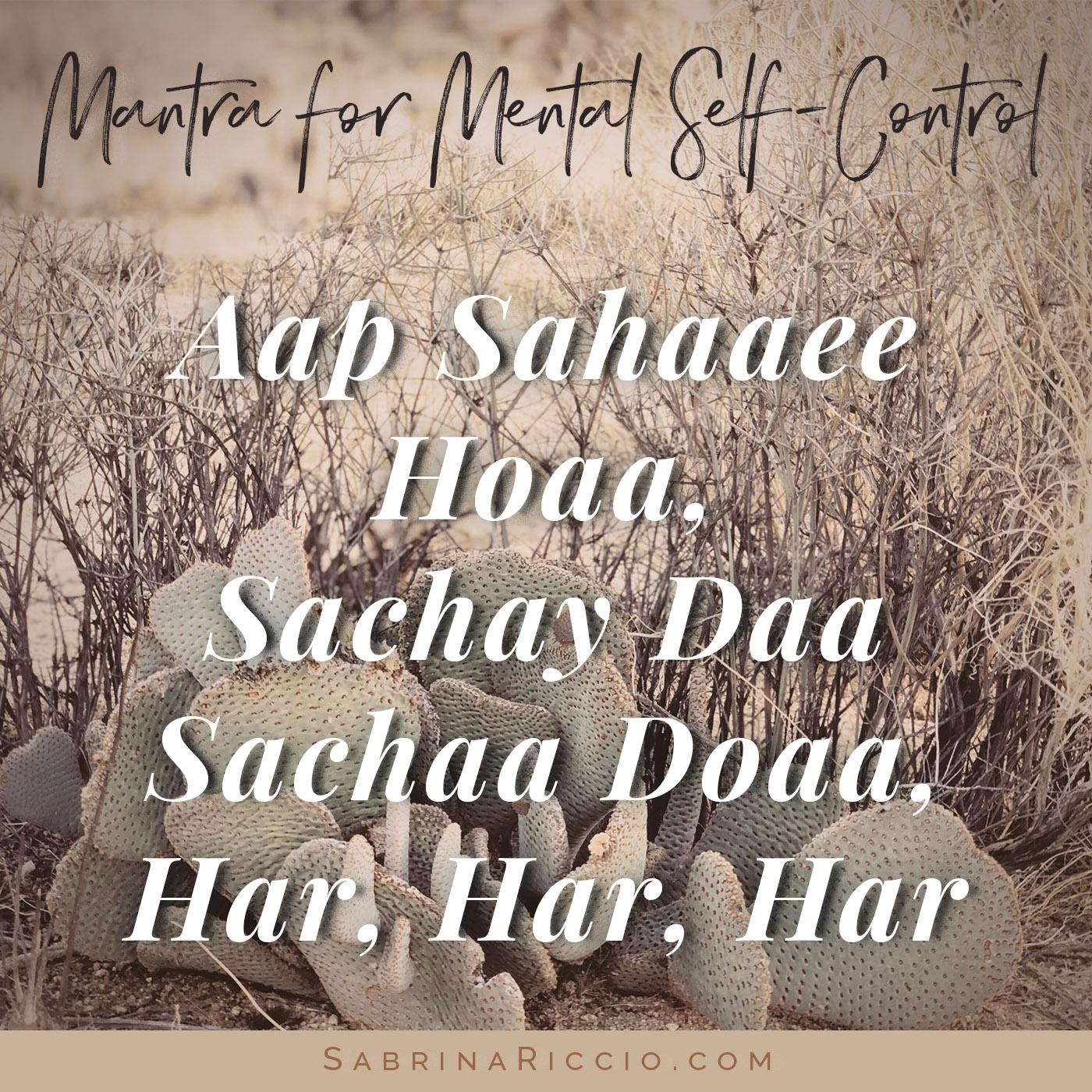 Aap Sahaaee Hoaa   Mantra for Mental Self-Control   SabrinaRiccio.com