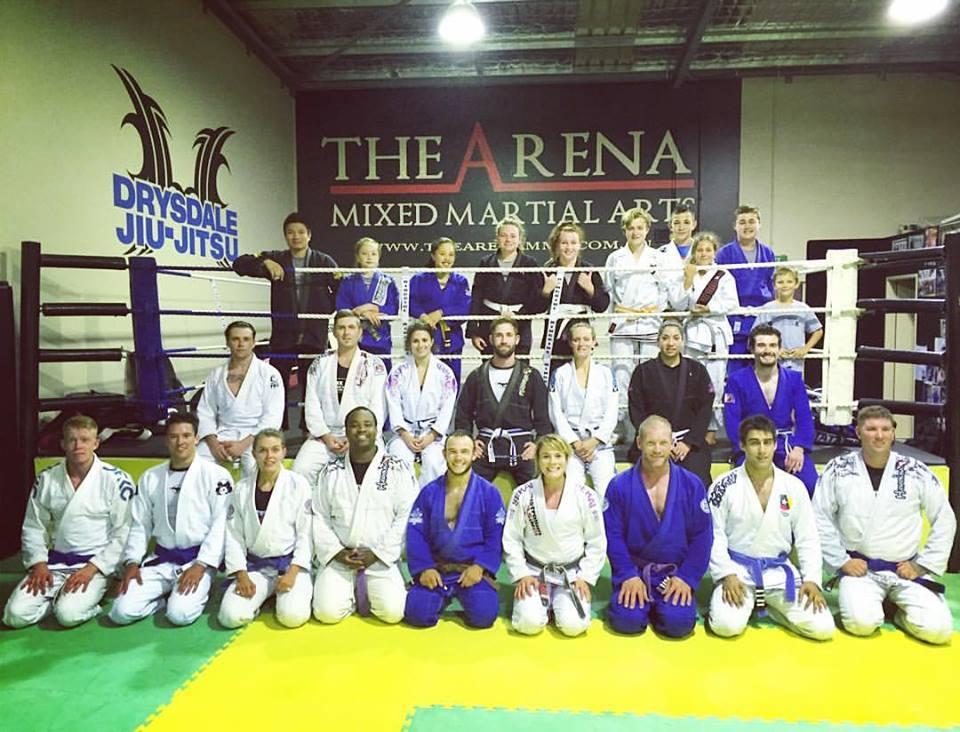 My seminar at The Arena MMA in Perth.