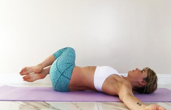 Here is an exercise from the article. Put a tennis ball in between your legs and move your knees from side to side.