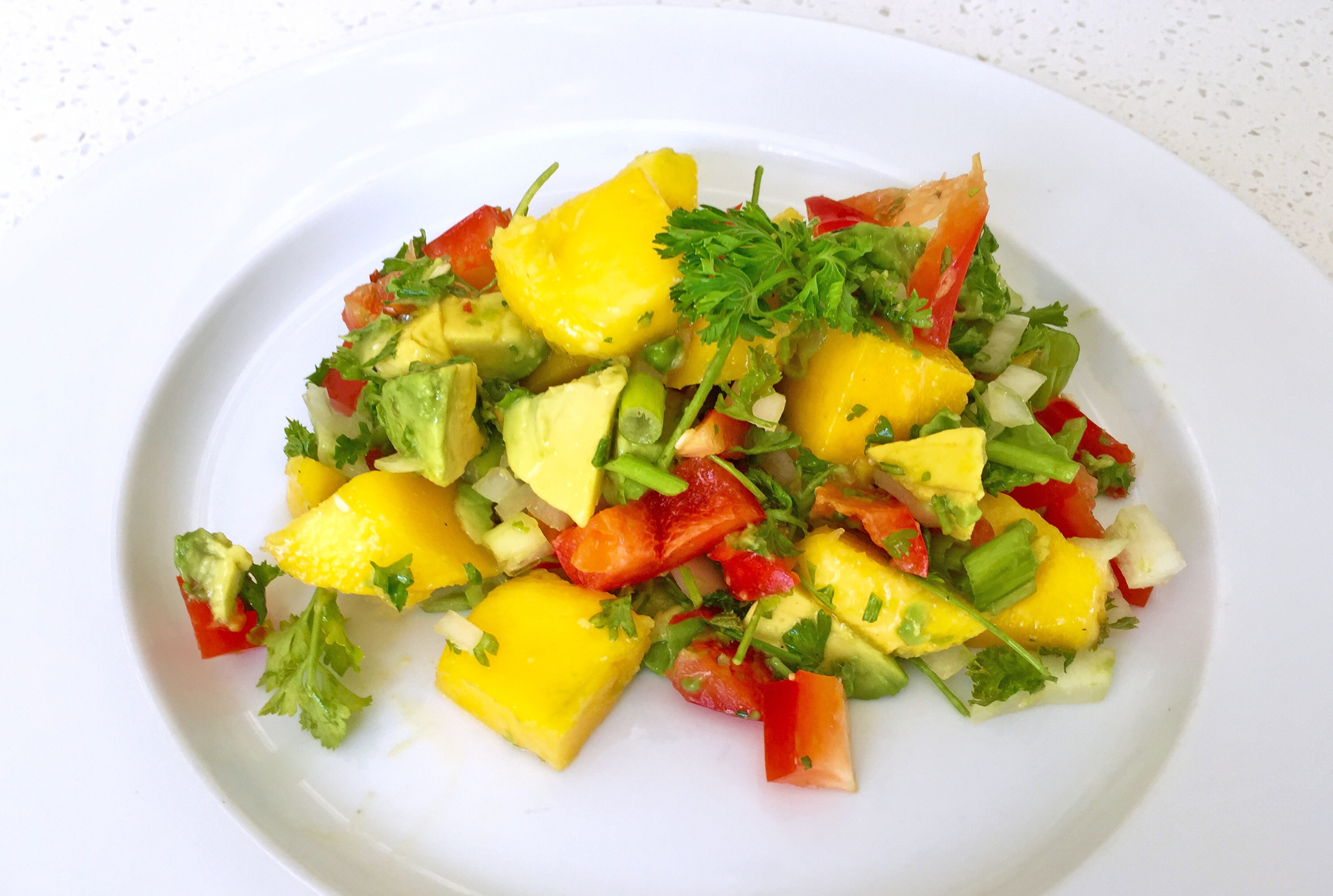 This salad is perfect for warm Spring or Summer evenings and can easily be paired with chicken or salmon.
