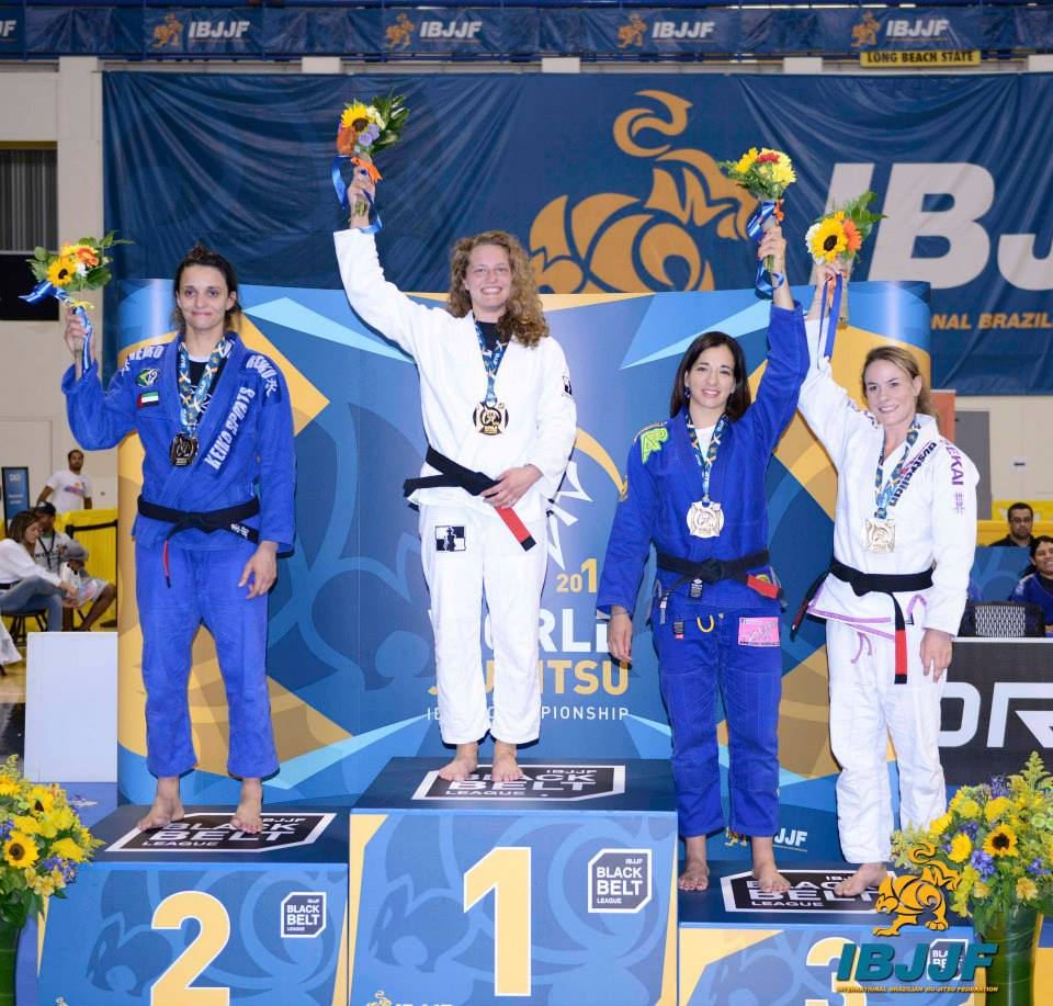 3rd at the worlds, but the only mother on the podium out of all the black belts