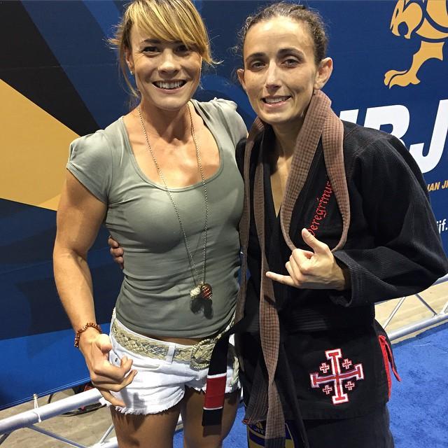 Rachel earning her black belt and the Master World Championships