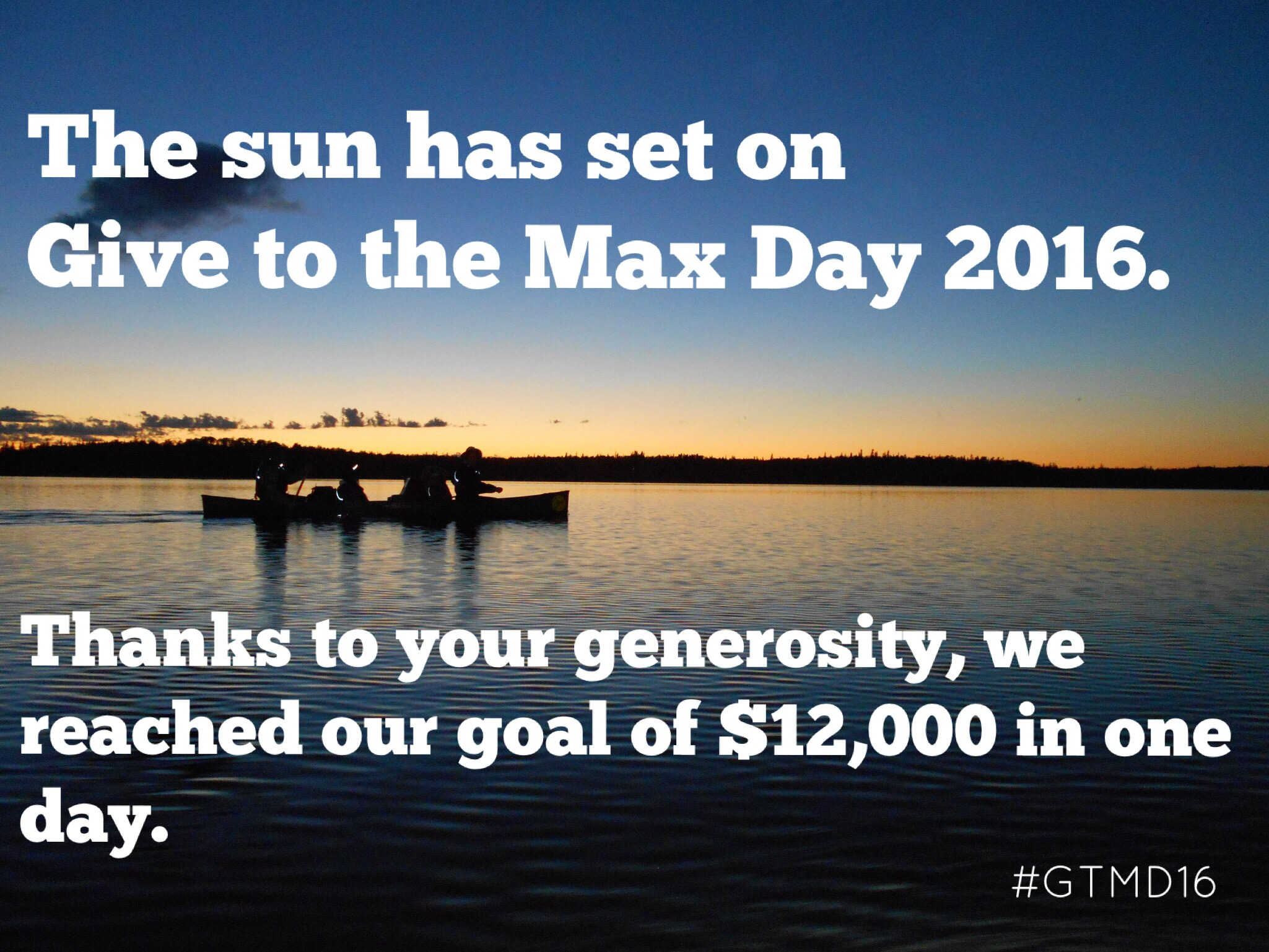 Give to the Max thank you