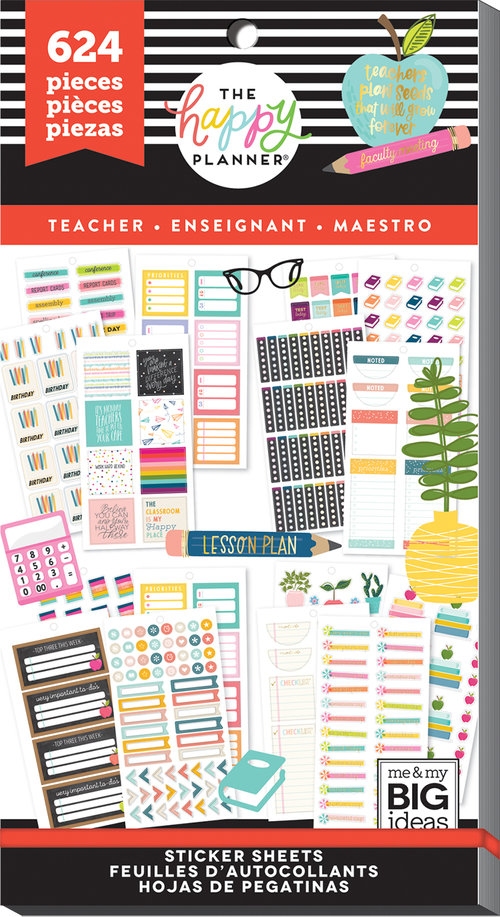The Happy Planner Value Pack Stickers - Functional Teacher — Trillia  Planning