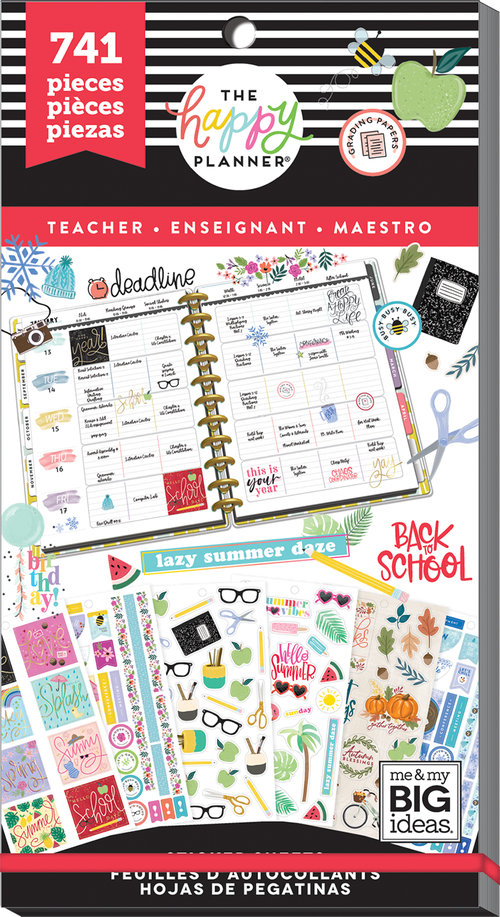 The Happy Planner Value Pack Stickers - Happy Year Teacher — Trillia  Planning