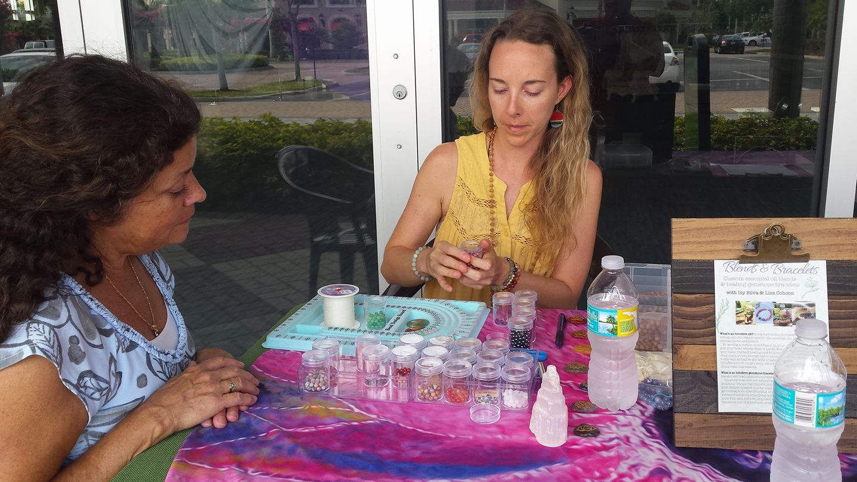 making gemstone bracelet marco yoga fest