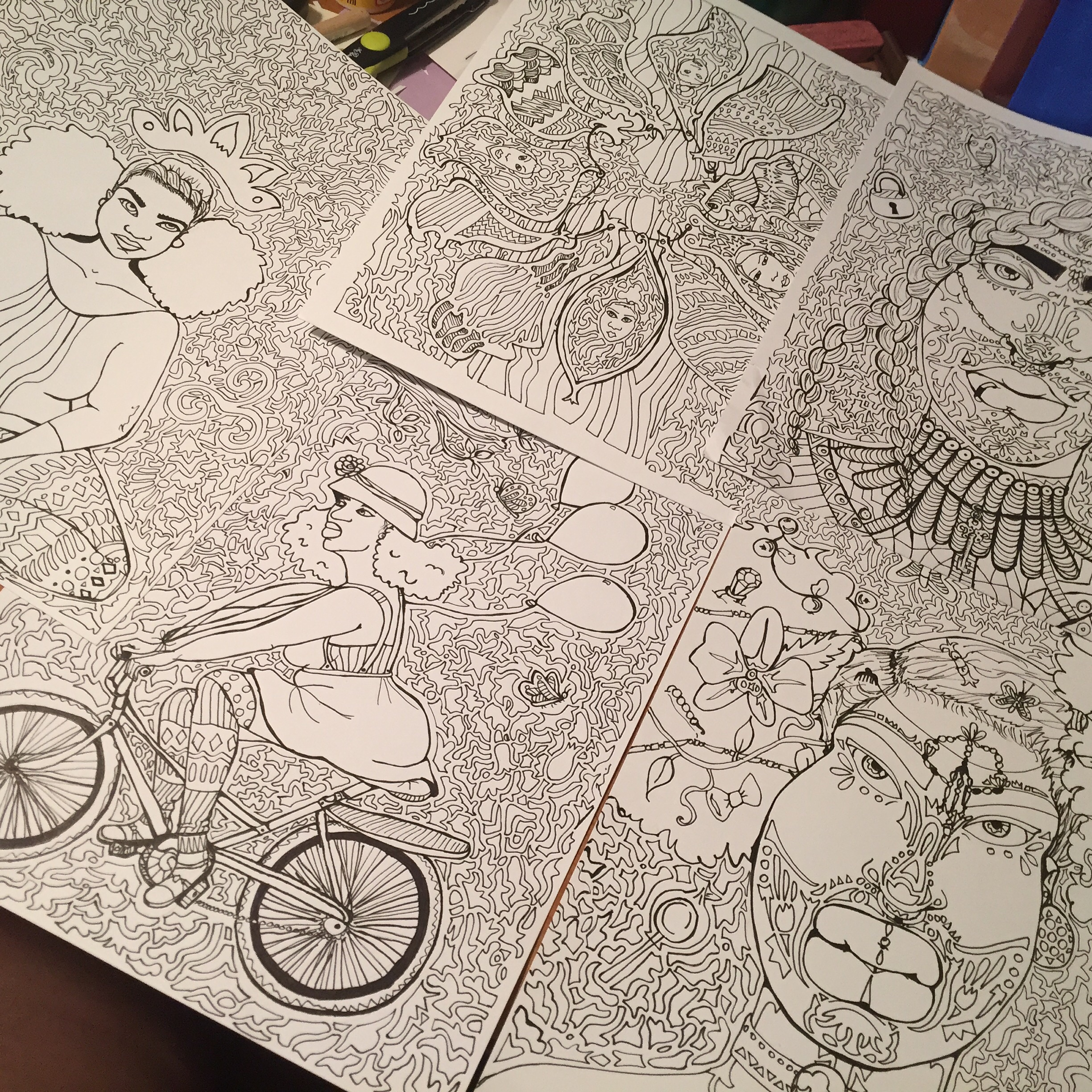 A glimpse at a few finished pages...