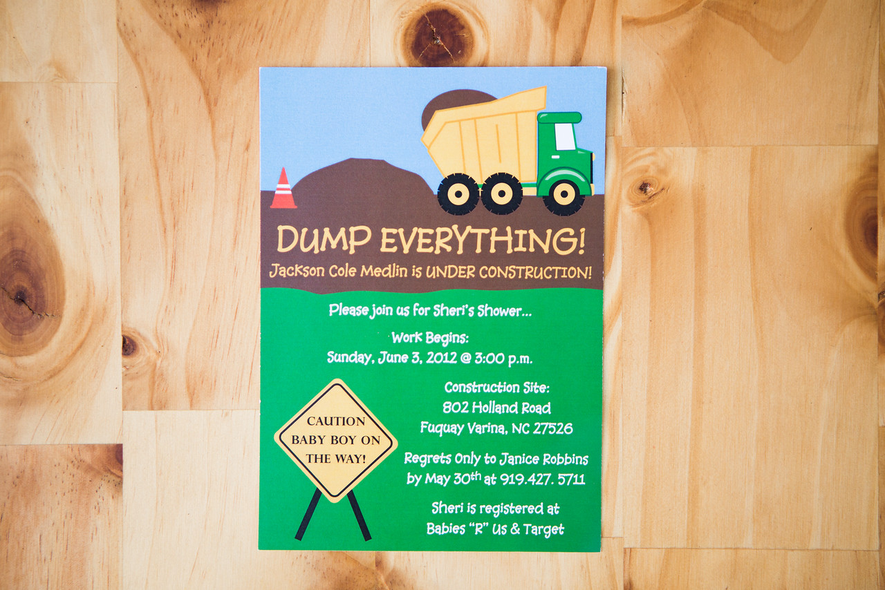 Construction Baby Shower Invitation   Digital Download   $15