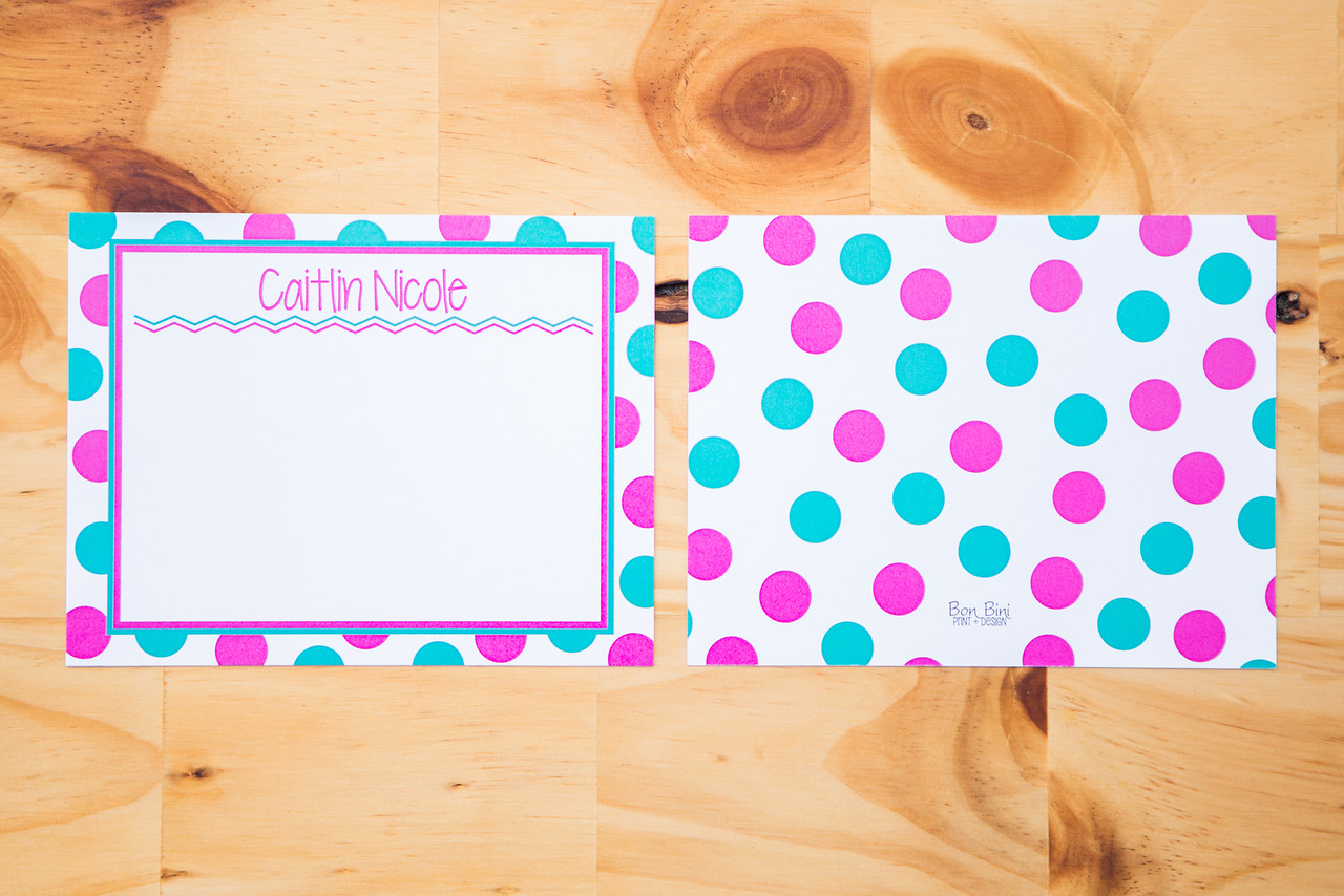 Personalized Kid's Stationery   Pack of 10   4.25x5.5   $10