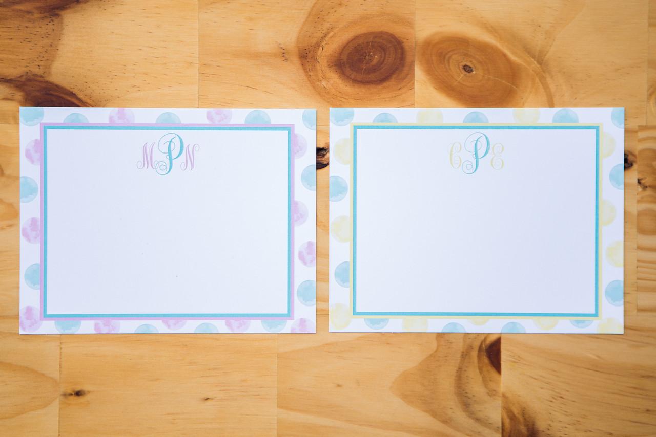 Monogram Notecards   Pack of 10   4.25x5.5   $10