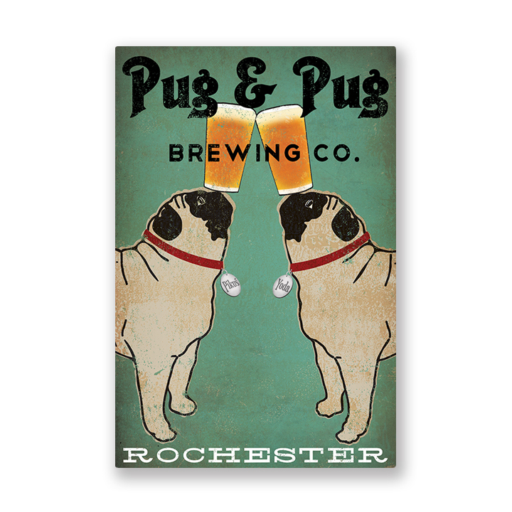 PUGS     Pugs with beer. Pugs on canoes. Pugs on bikes. Explore all my pug designs.
