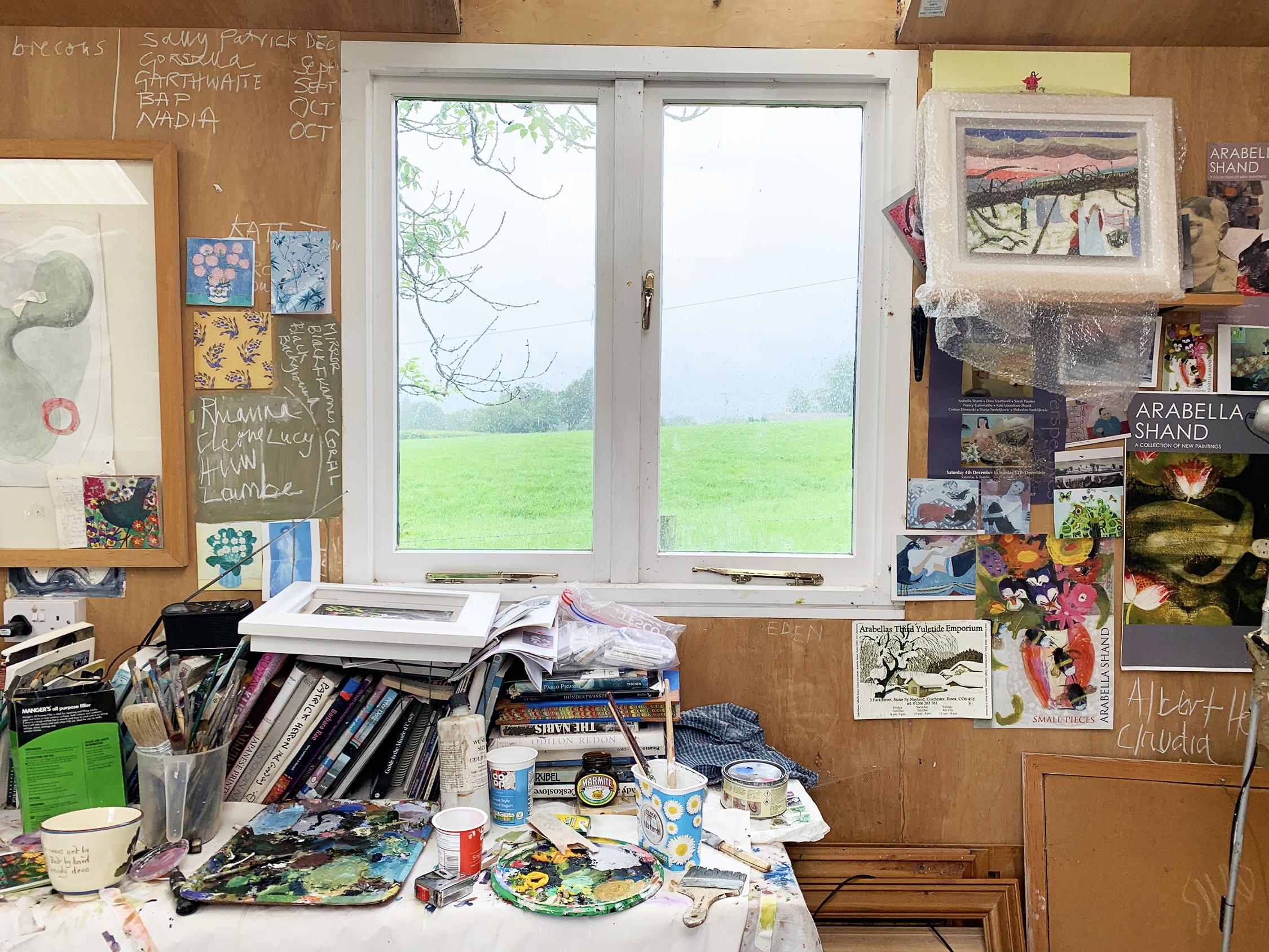 Arabella Shand's studio in Wales