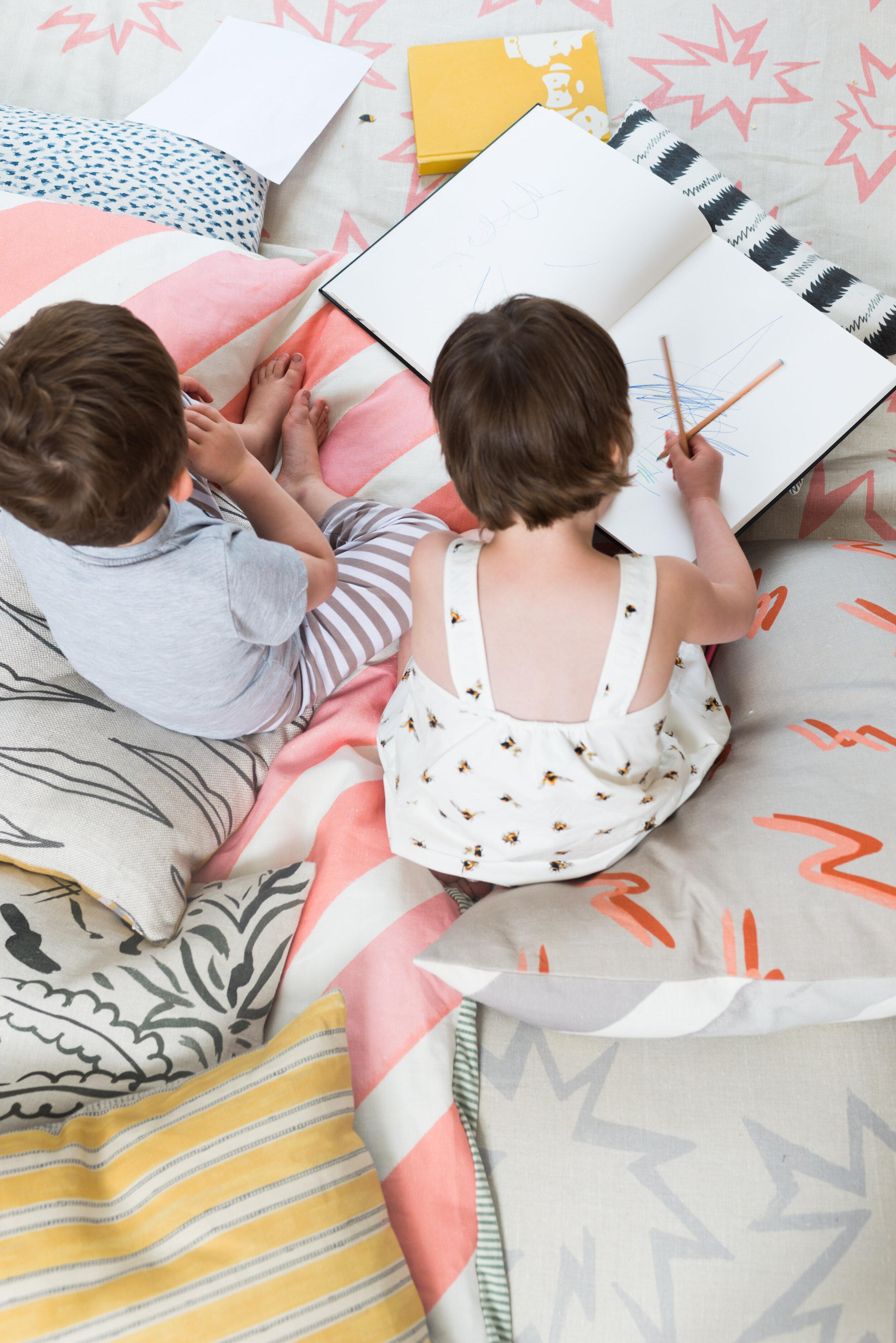 Linen pillows by KLS Textiles