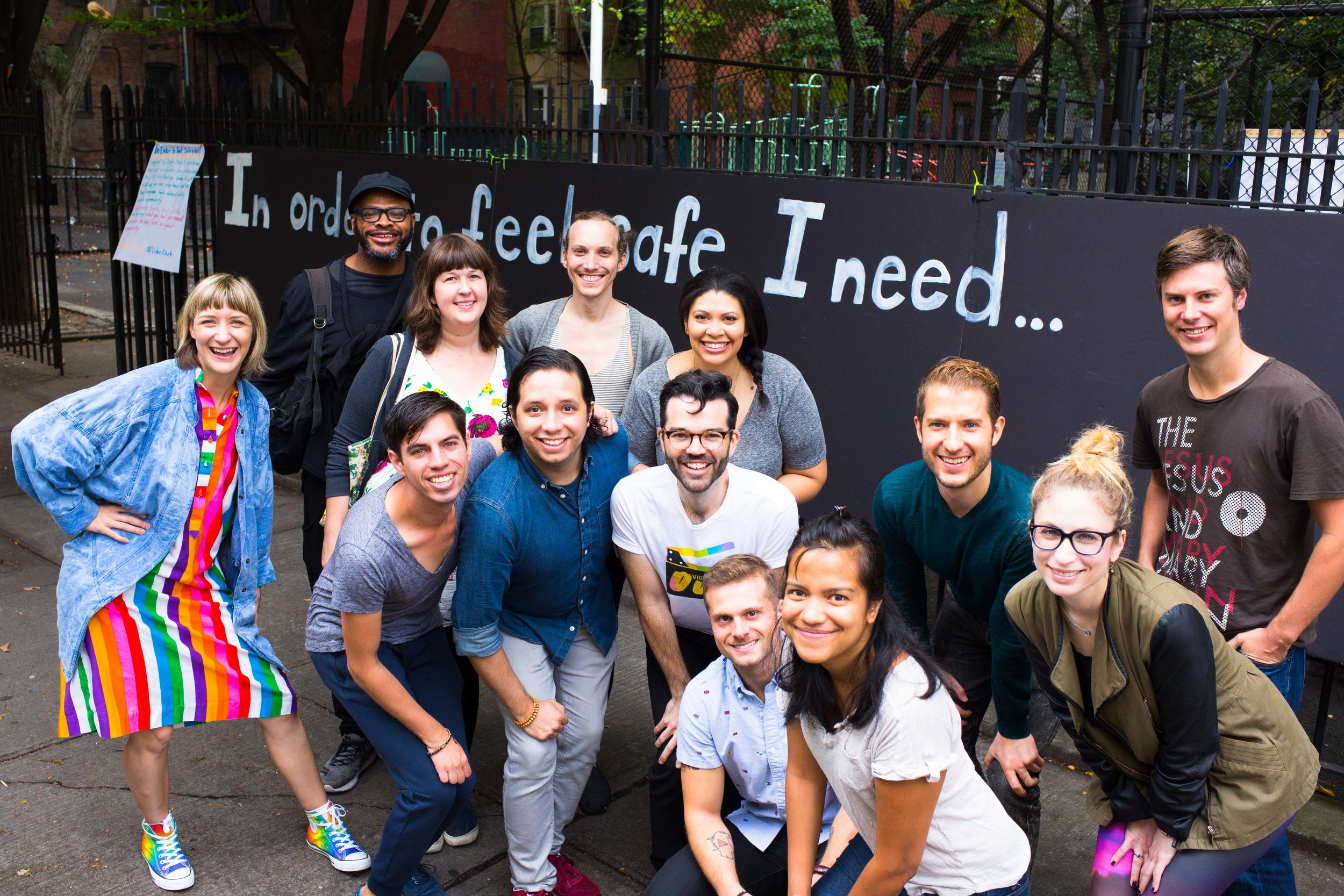 Volunteers at the inaugural Kindness Party in Williamsburg, Brooklyn. October 2017.