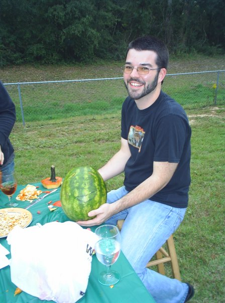 October 2006. Carving pumpkins / watermelons. I'm 21 years old and not out.