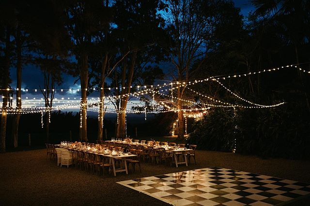 ~ A starry night ~ What a dream it was to bring this setting to life for our darling Camilla & Nick. With 40 of their nearest and dearest these two love birds enjoyed an evening beneath the stars in the hills overlooking Byron. A day that will always be held closely to my heart and never forgotten ~ Captured by @carlytiaphotography Hire @theweddingshed Lighting @byronaudio Venue @byronviewfarm  #microwedding #elope