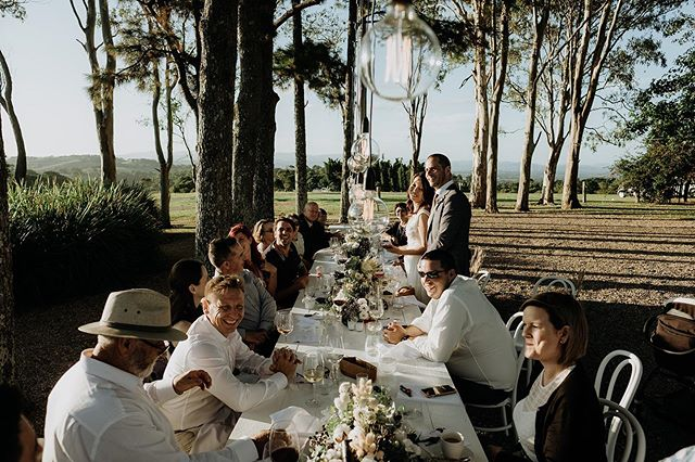 Friday vibes ~ long lunches in the Byron hinterland ~ Captured by @vanmiddletonphotography ✨#elopebyronbay #microwedding #longlunch