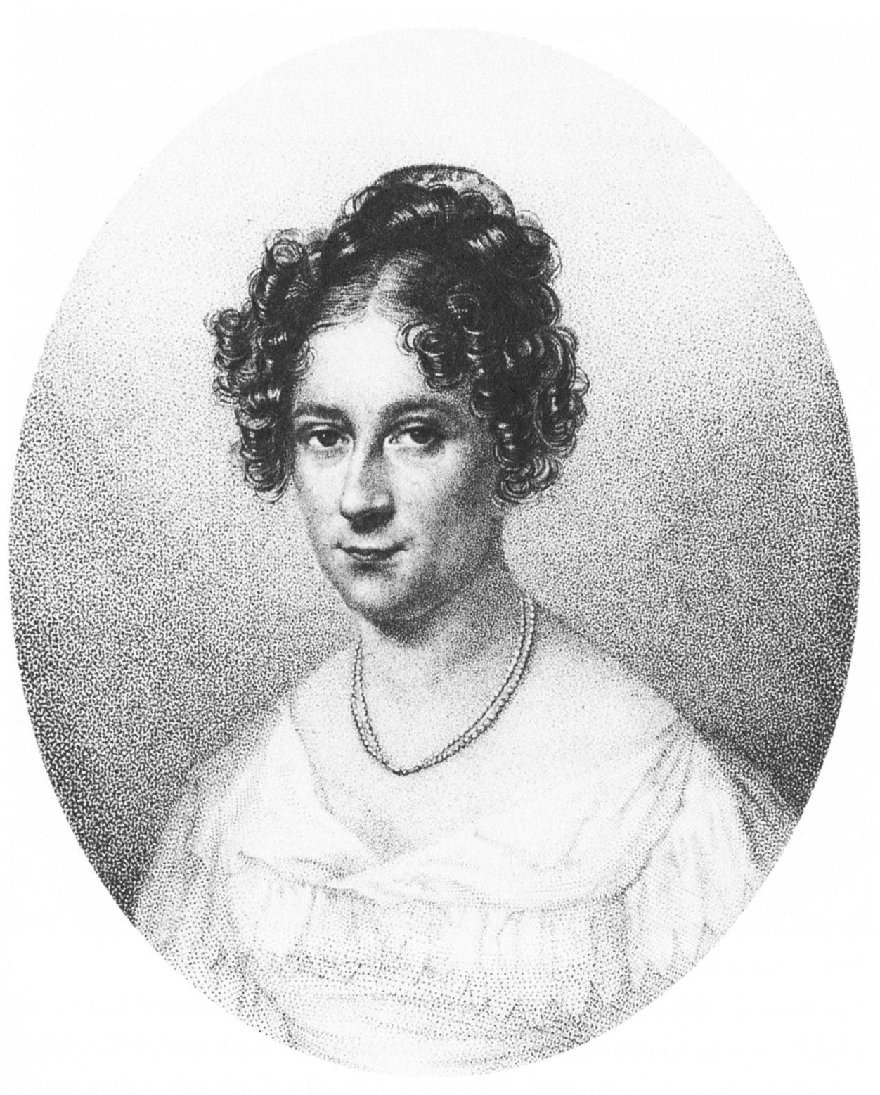 Rahel Levin Varnhagen (1771-1833), intellectual and salonniere. She converted to Christianity in 1814, before marrying Karl August Varnhagen von Ense.