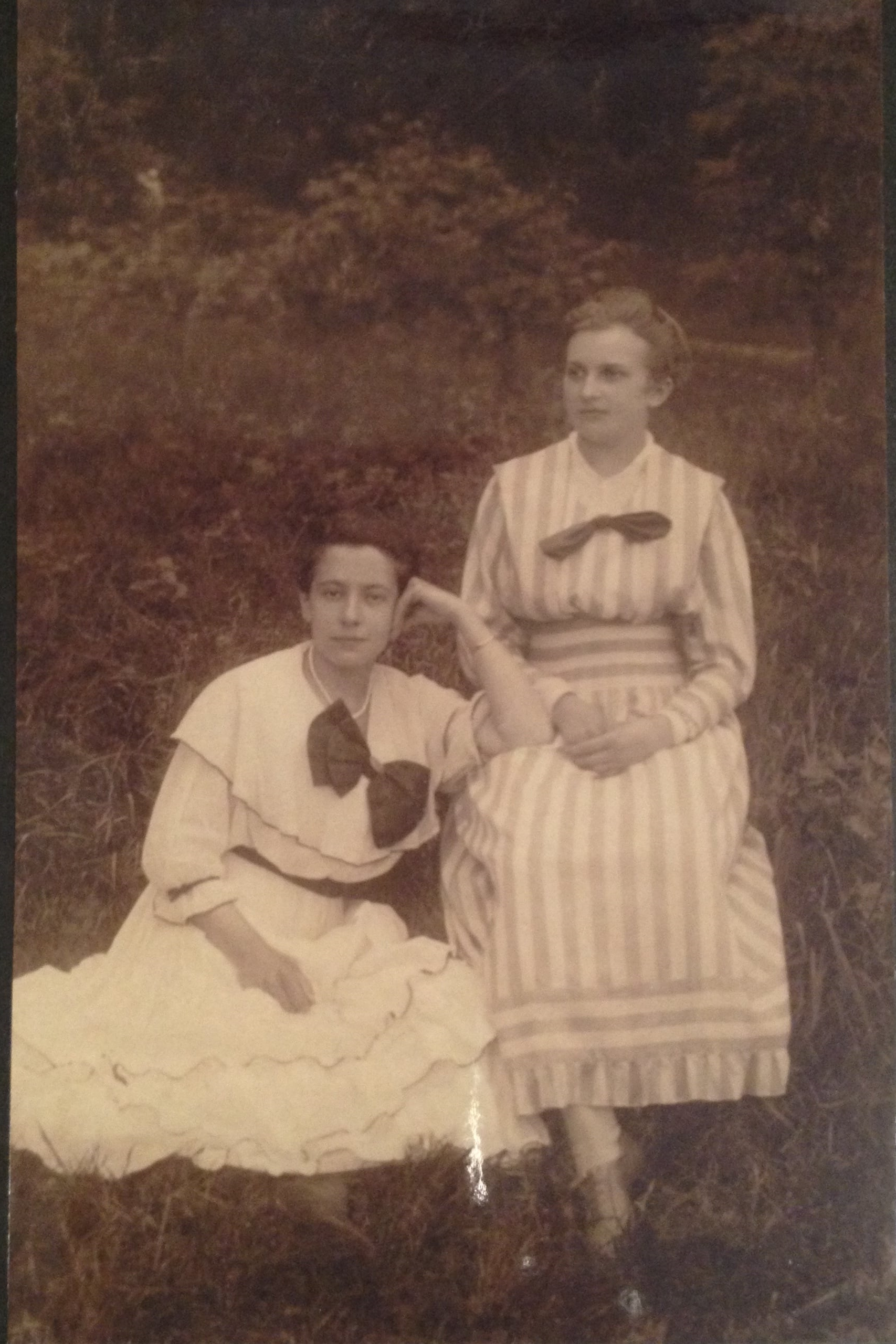 My grandmother and Frau Digeyser - her husband was a sales rep for Feodora Chocolates.