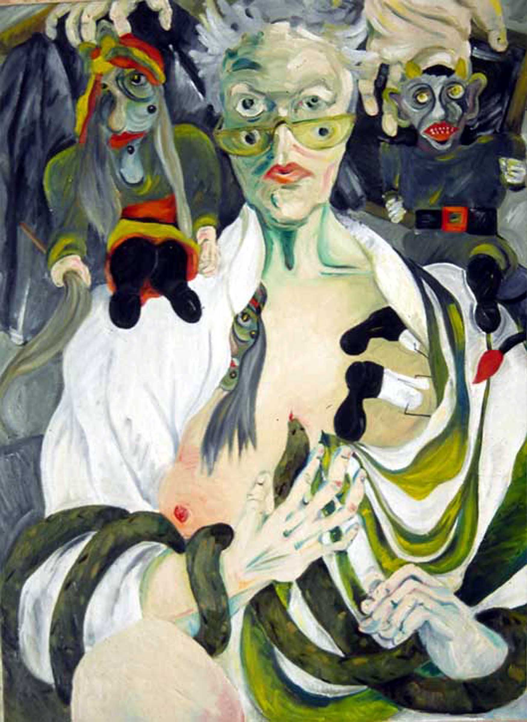 Self-portrait with Marionettes - Joyce Ellen Weinstein