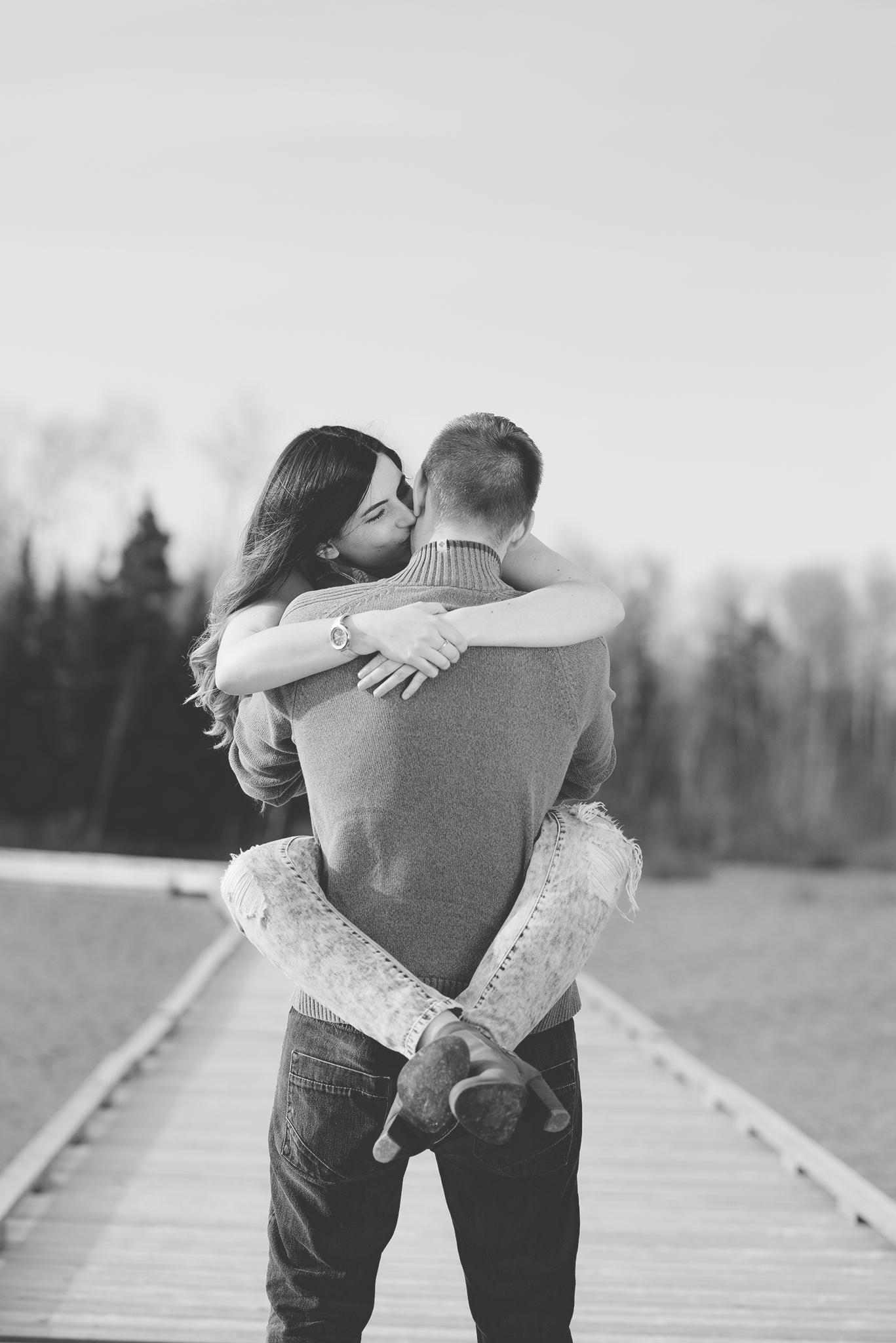 Sudbury engagement photography | Couple portrait