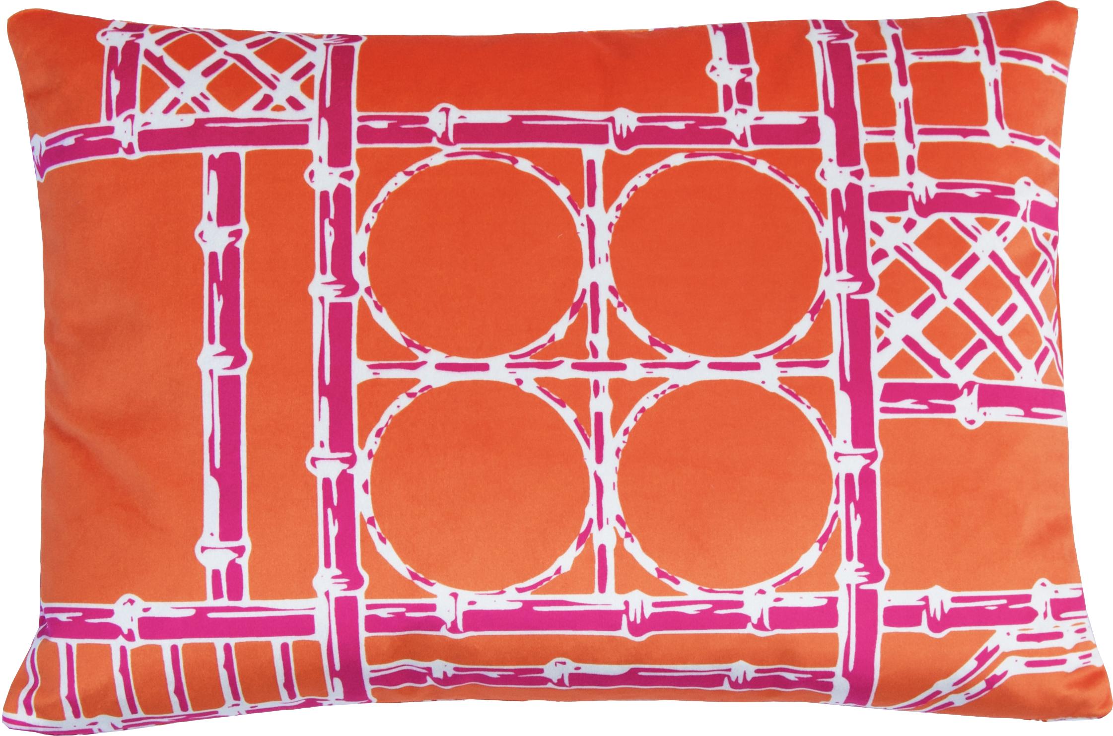 Bamboo Fretwork Lumbar_OrangeRaspberry_Velvet II.jpg