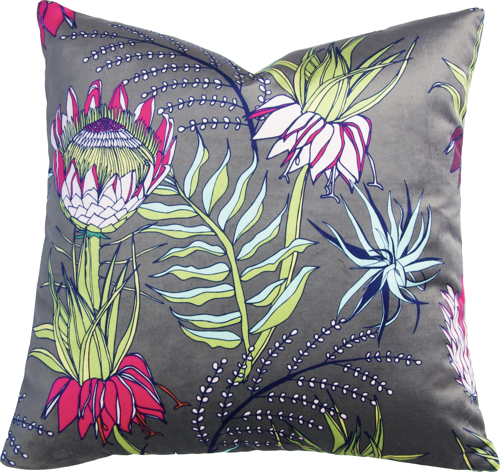 King Protea Pillow_Olive_Velvet II.jpg