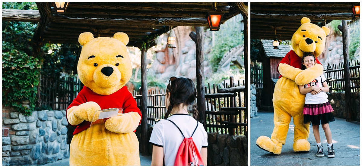 meeting winnie the pooh for the first time at disneyland