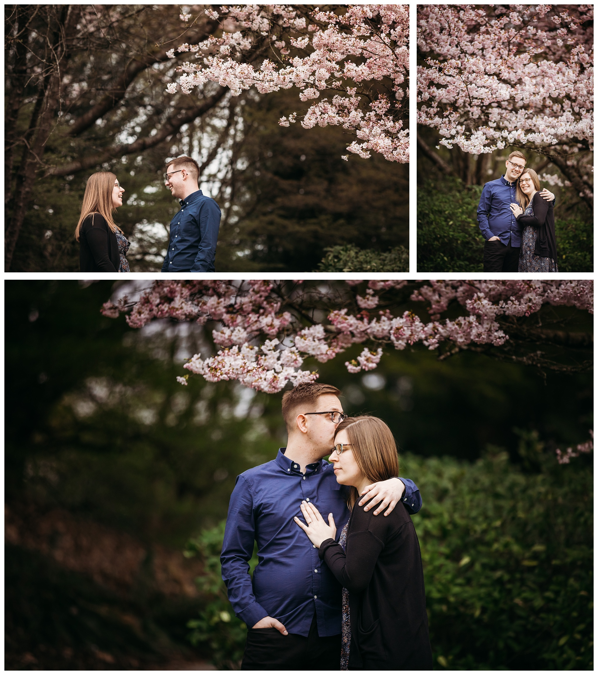 Queen Elizabeth Park Spring Engagement Photography Cherry Blossom Photos Couple Romantic_0001.jpg