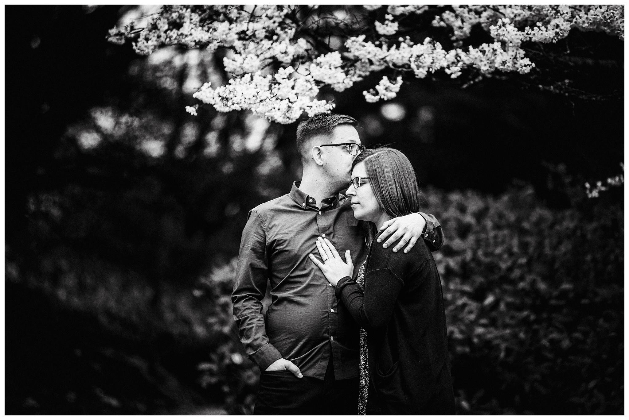 Queen Elizabeth Park Spring Engagement Photography Cherry Blossom Photos Couple Romantic_0003.jpg