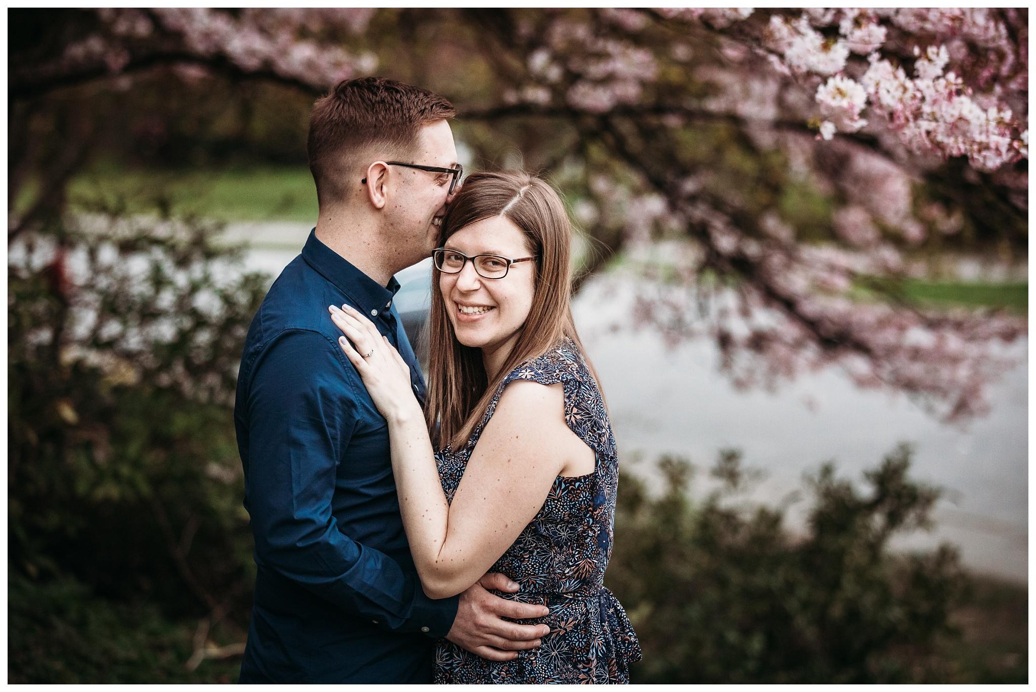 Queen Elizabeth Park Spring Engagement Photography Cherry Blossom Photos Couple Romantic_0012.jpg