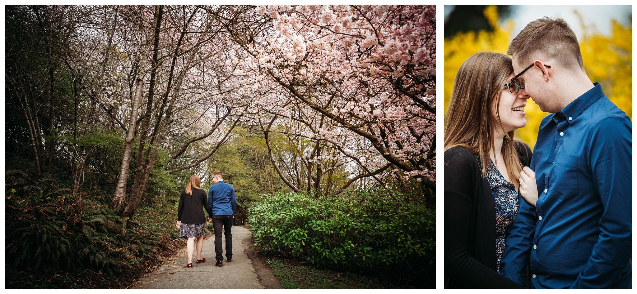 Queen Elizabeth Park Spring Engagement Photography Cherry Blossom Photos Couple Romantic_0016.jpg