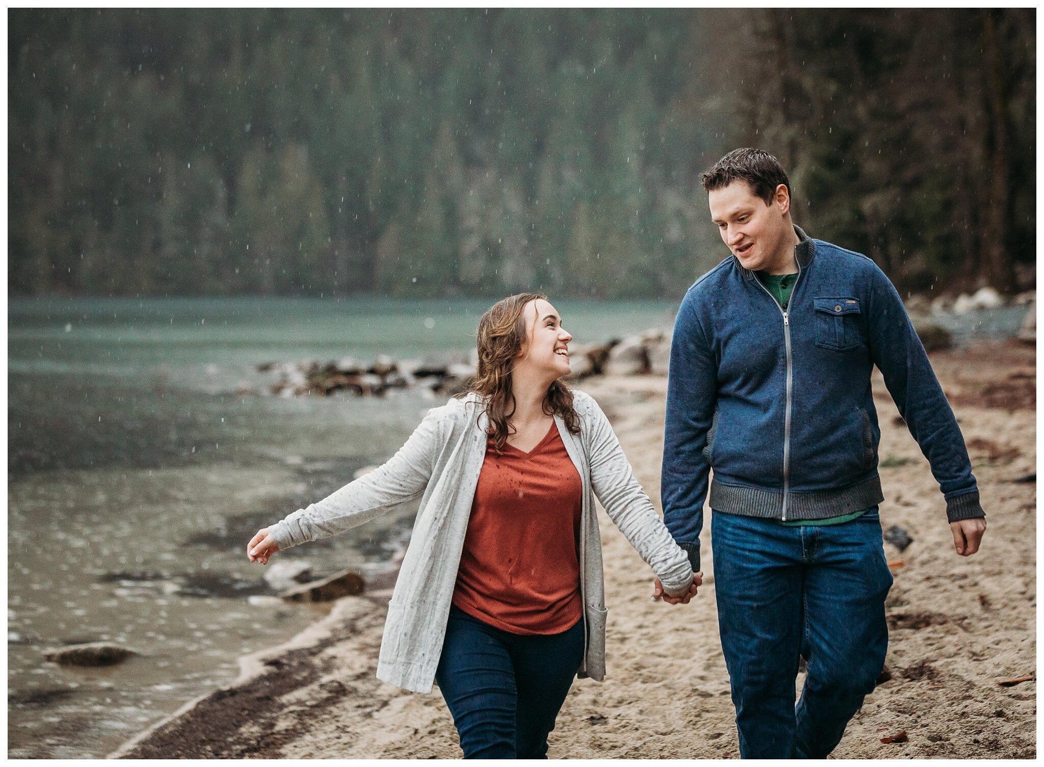 Chilliwack Lake Rainy Winter Engagement Photography Session Couples Photographer_0005.jpg