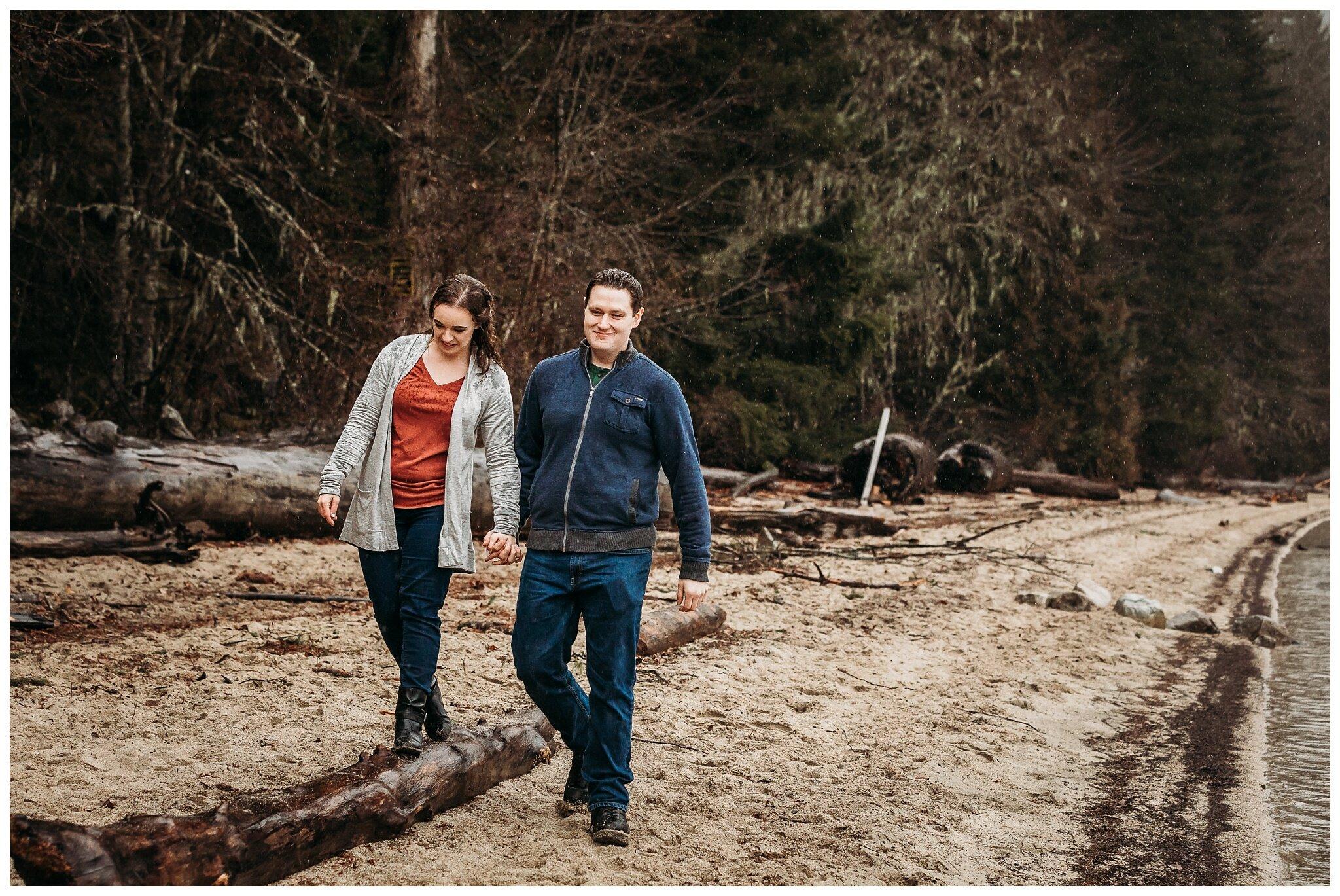 Chilliwack Lake Rainy Winter Engagement Photography Session Couples Photographer_0007.jpg