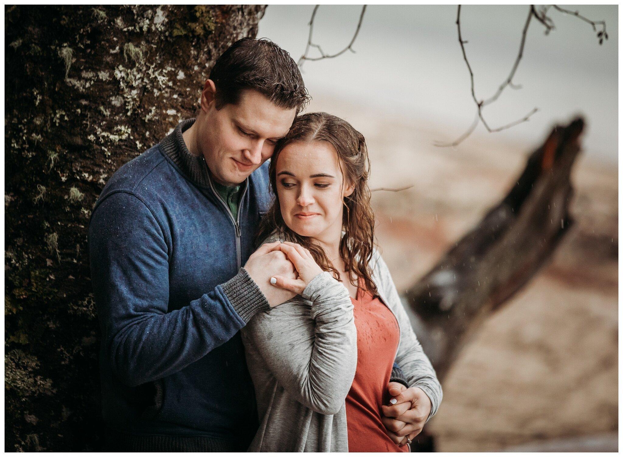 Chilliwack Lake Rainy Winter Engagement Photography Session Couples Photographer_0009.jpg