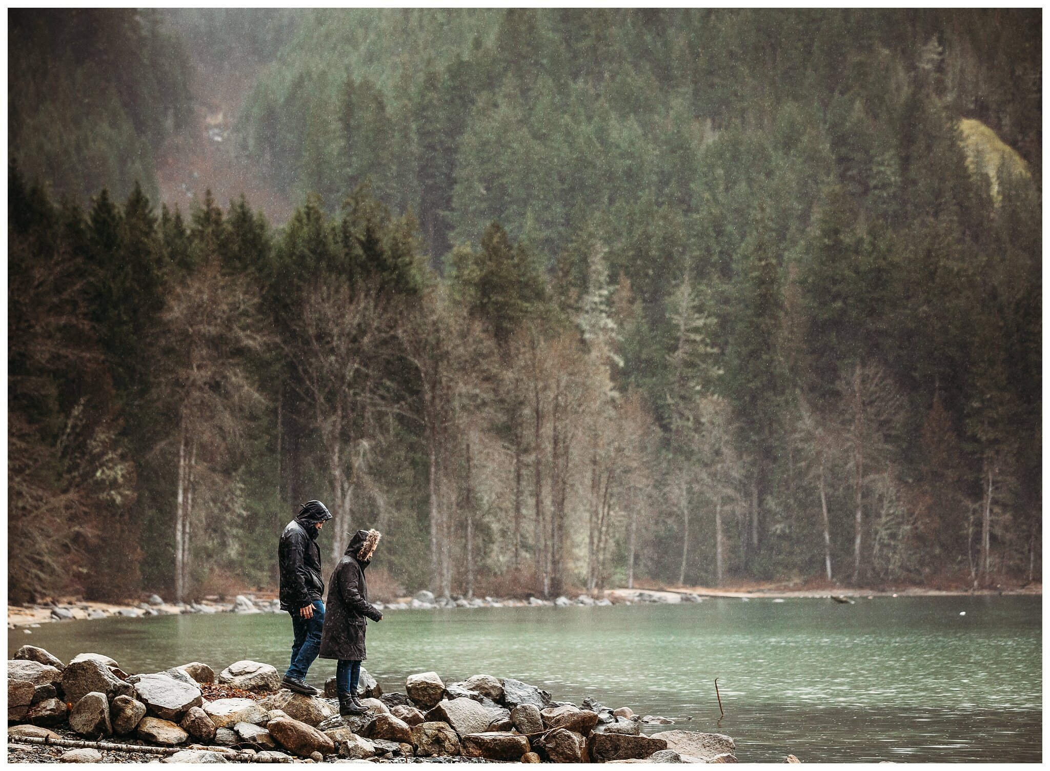 Chilliwack Lake Rainy Winter Engagement Photography Session Couples Photographer_0012.jpg