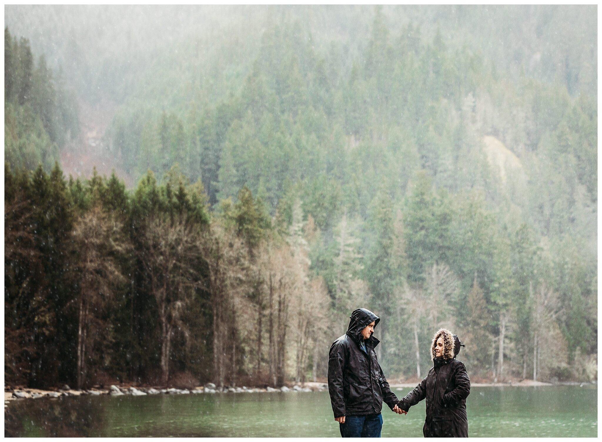 Chilliwack Lake Rainy Winter Engagement Photography Session Couples Photographer_0013.jpg