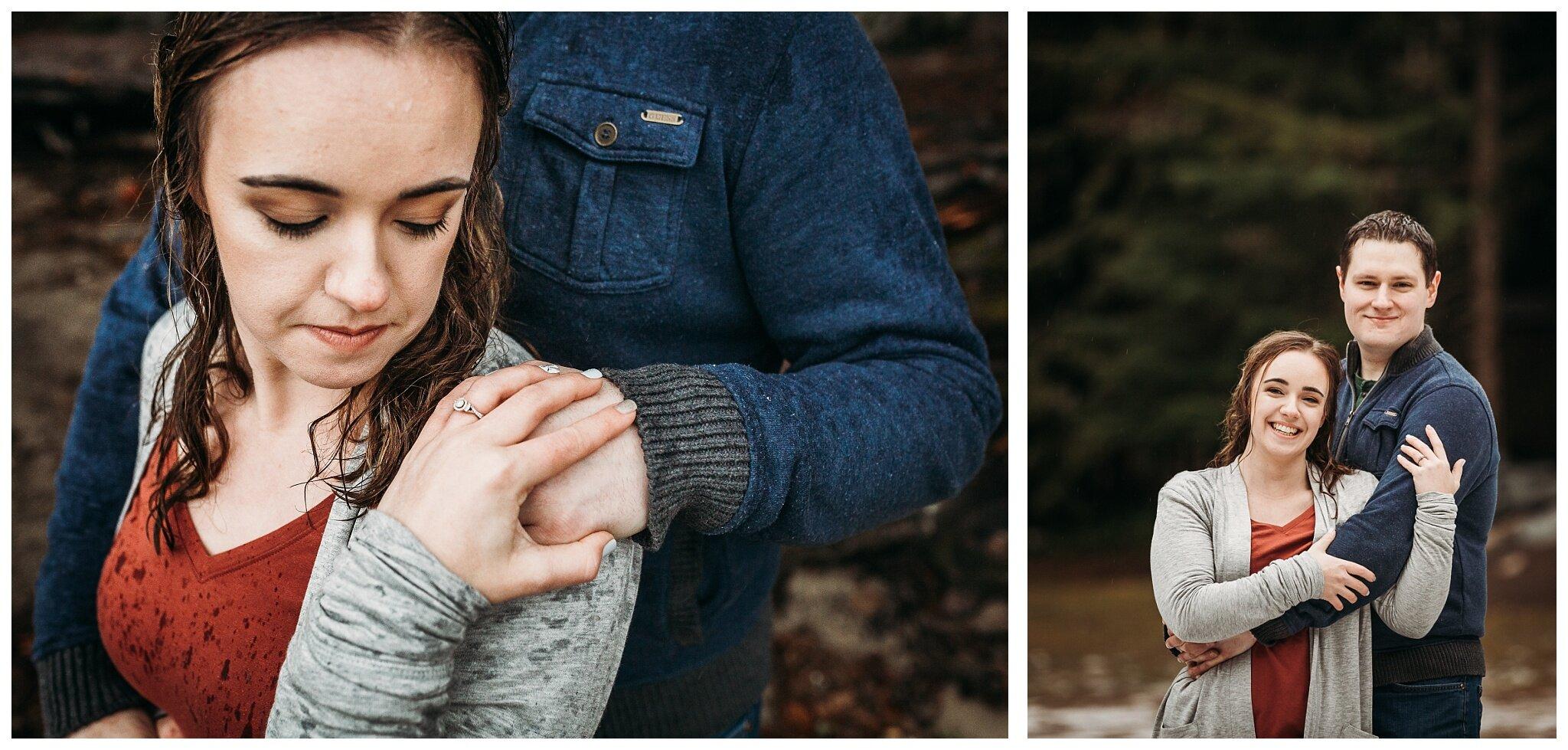 Chilliwack Lake Rainy Winter Engagement Photography Session Couples Photographer_0015.jpg