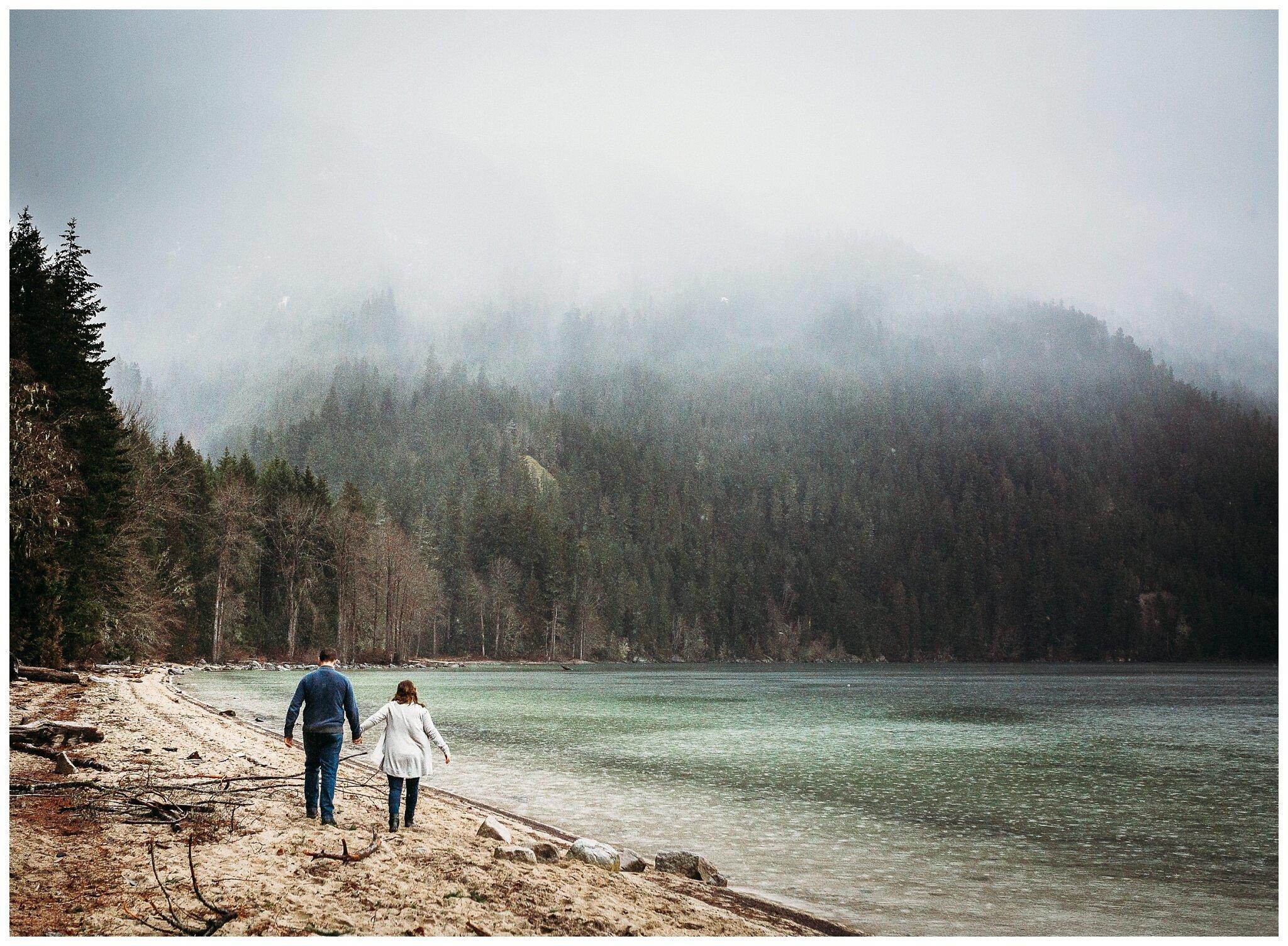 Chilliwack Lake Rainy Winter Engagement Photography Session Couples Photographer_0018.jpg