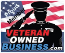 Veteran Owned Business Member   - we are proud members of the Veteran Owned Business Project. VOB is the leading FREE directory of nearly 25,000 businesses owned by military veterans (VOB), active duty military, reservists and service disabled veteran owned businesses (SDVOSB) of the United States Army, Air Force (USAF), Marines (USMC), Navy (USN), Coast Guard (USCG) and National Guard. Join us in showing your support for our armed forces by proudly searching for products and services that are all made by, sold by or serviced by United States military veterans!