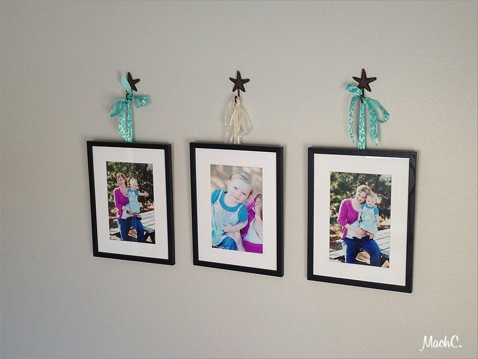 photo wall display with gift prints