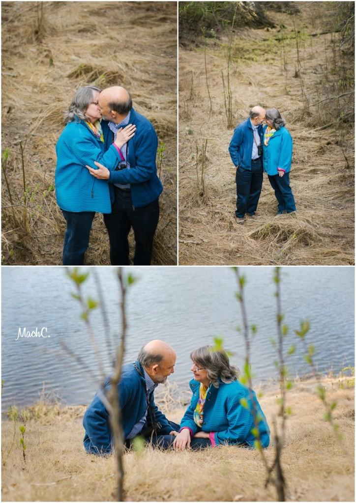 couples - a walk along the lake