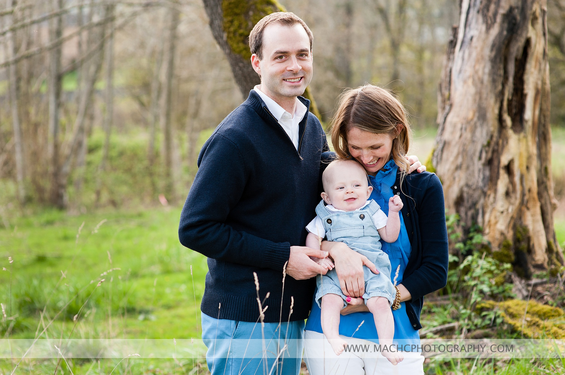 boy, mom and dad, portraits in the great outdoors - Camas, WA